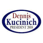 Dennis Kucinich for President (oval sticker)