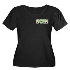 Garden Diva Women's Plus Size Scoop Neck Dark T-Sh