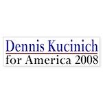 Dennis Kucinich for America bumper sticker