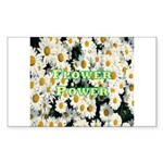 Flower Power Rectangle Sticker