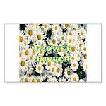Flower Power Rectangle Sticker