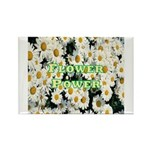 Flower Power Rectangle Magnet (10 pack)