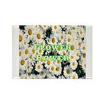 Flower Power Rectangle Magnet (100 pack)