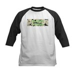 Flower Power Kids Baseball Jersey