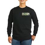 Flower Power Long Sleeve Dark T-Shirt
