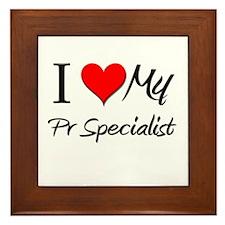 I Heart My Pr Specialist Framed Tile
