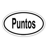 PUNTOS Oval Decal