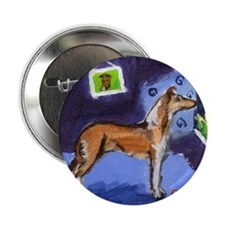 SMOOTH COLLIE sable moon Button
