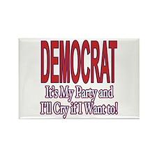 It's My Party: Democrat Rectangle Magnet