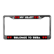 My Heart: Reba (#001) License Plate Frame