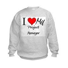 I Heart My Project Manager Sweatshirt