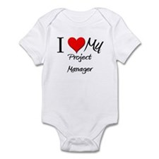 I Heart My Project Manager Infant Bodysuit