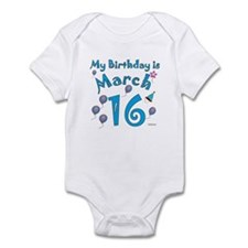 March 16th Birthday Infant Bodysuit