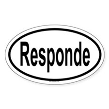 RESPONDE Oval Decal