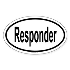 RESPONDER Oval Decal