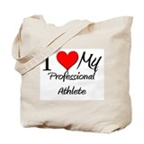 I Heart My Professional Athlete Tote Bag