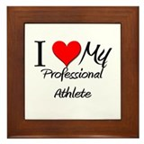I Heart My Professional Athlete Framed Tile