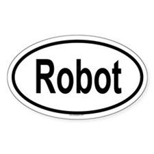ROBOT Oval Decal