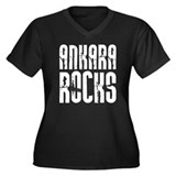 Ankara Rocks Women's Plus Size V-Neck Dark T-Shirt