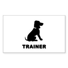 Dog Trainer Rectangle Decal