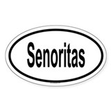 SENORITAS Oval Decal