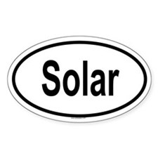 SOLAR Oval Decal