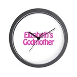 Elizabeth's Godmother Wall Clock