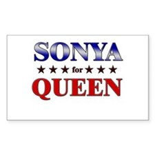 SONYA for queen Rectangle Decal