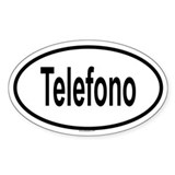 TELEFONO Oval Decal