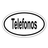 TELEFONOS Oval Decal