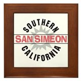 San Simeon California Framed Tile