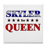 SKYLER for queen Tile Coaster