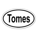 TOMES Oval Decal