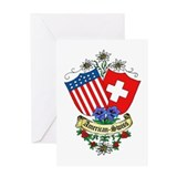 American Swiss Crest Greeting Card
