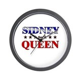 SIDNEY for queen Wall Clock