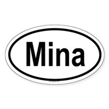 MINA Oval Decal