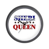 SHERI for queen Wall Clock