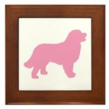 Pink Bernese Mt. Dog Framed Tile