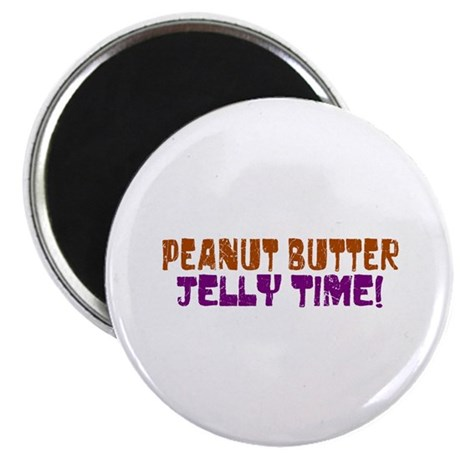 "Peanut Butter Jelly Time 2.25"" Magnet (100 pack)"