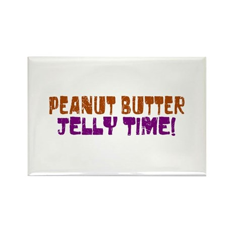 Peanut Butter Jelly Time Rectangle Magnet