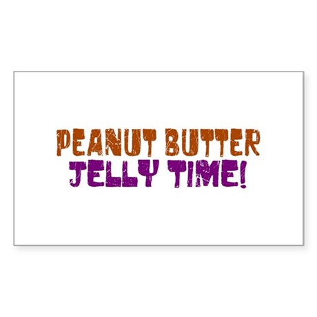 Peanut Butter Jelly Time Rectangle Sticker