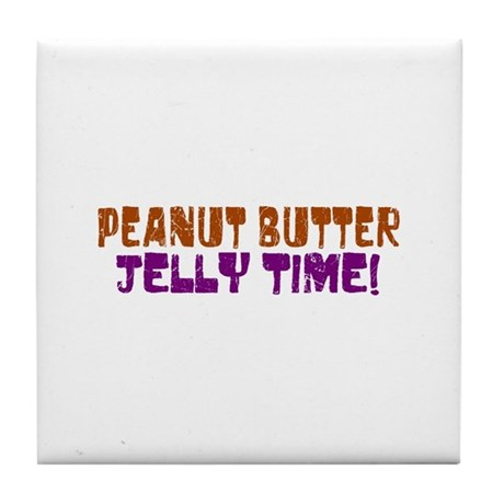 Peanut Butter Jelly Time Tile Coaster