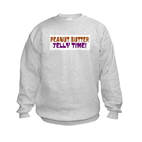 Peanut Butter Jelly Time Kids Sweatshirt
