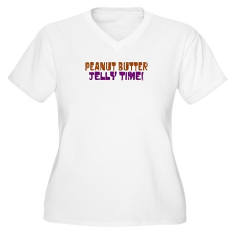Peanut Butter Jelly Time Women's Plus Size V-Neck