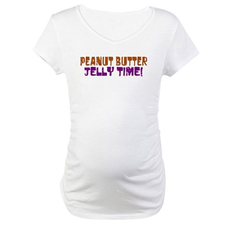 Peanut Butter Jelly Time Maternity T-Shirt