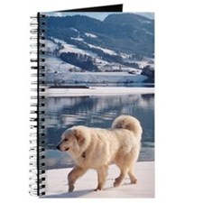"Great Pyrenees Journal ""Winter Lake"""