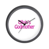 Olivia's Godmother Wall Clock