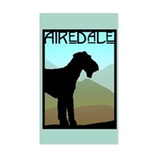 Craftsman Airedale Rectangle Decal