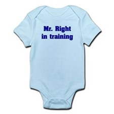 Mr. Right Infant Bodysuit