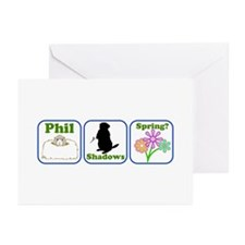 Phil, Shadows, Spring Greeting Cards (Pk of 20)